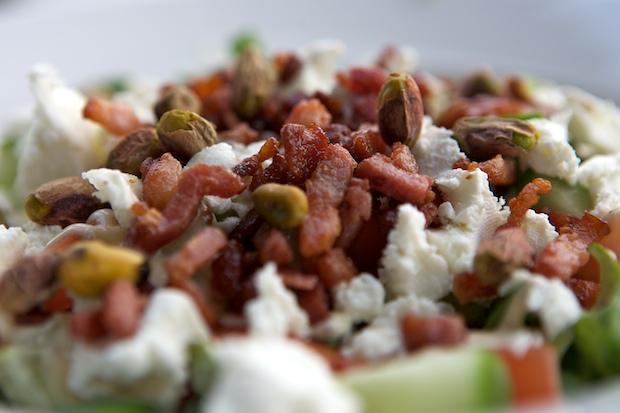 Salade-spekjes-geitenkaas